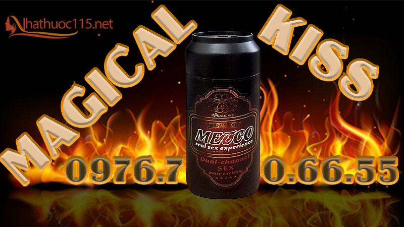 Âm đạo giả Magical Kiss hình lon bia - màu Black