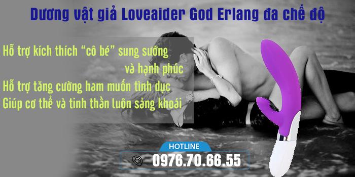 Công dụng Dương vật giả Loveaider God Erlang đa chế độ rung