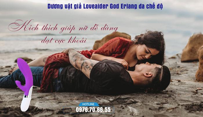 Dương vật giả Loveaider God Erlang đa chế độ rung