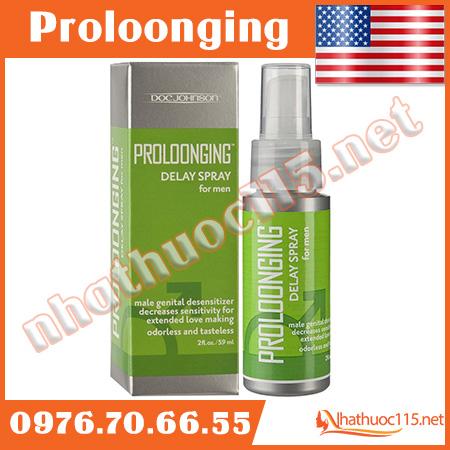 Thuốc xịt chống xuất tinh sớm Proloonging Delay Spray