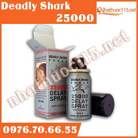 Xịt chống xuất tinh sớm Deadly Shark 25000