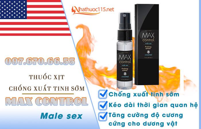 Xịt chống xuất tinh Max Control Prolong Spray
