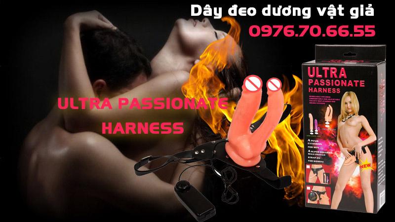 Dây đeo dương vật giả ultra passionate harness có rung