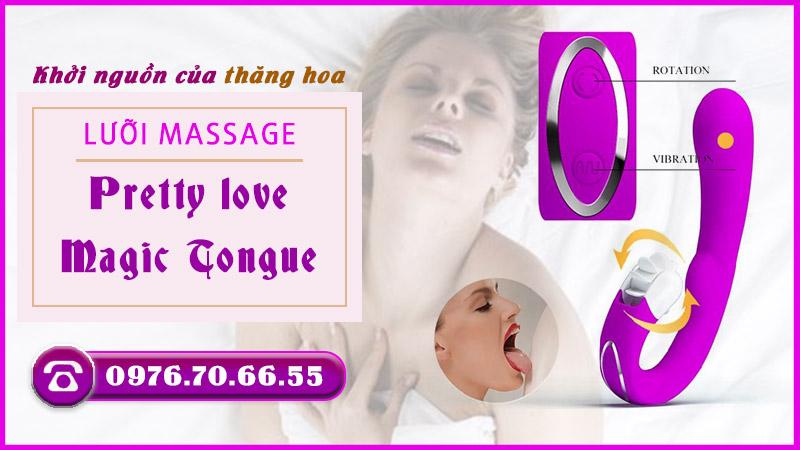 Lưỡi massage kết hợp dương vật Pretty love Magic Tongue