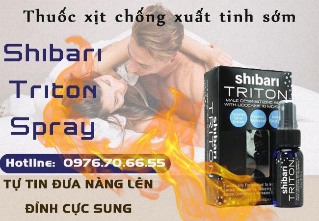 Thuốc xịt chống xuất tinh sớm Shibari TRITON Spray