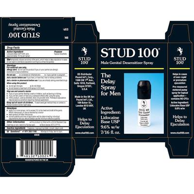 Thuốc xịt Stud 100 chống xuất tinh sớm