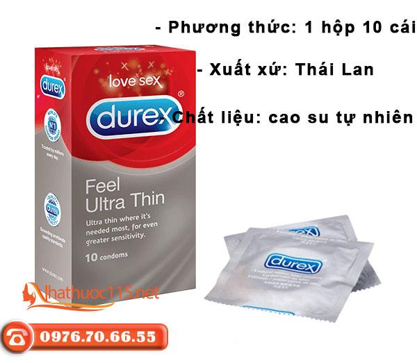 Thông tin Bao cao su Durex Ultra Thin Feel