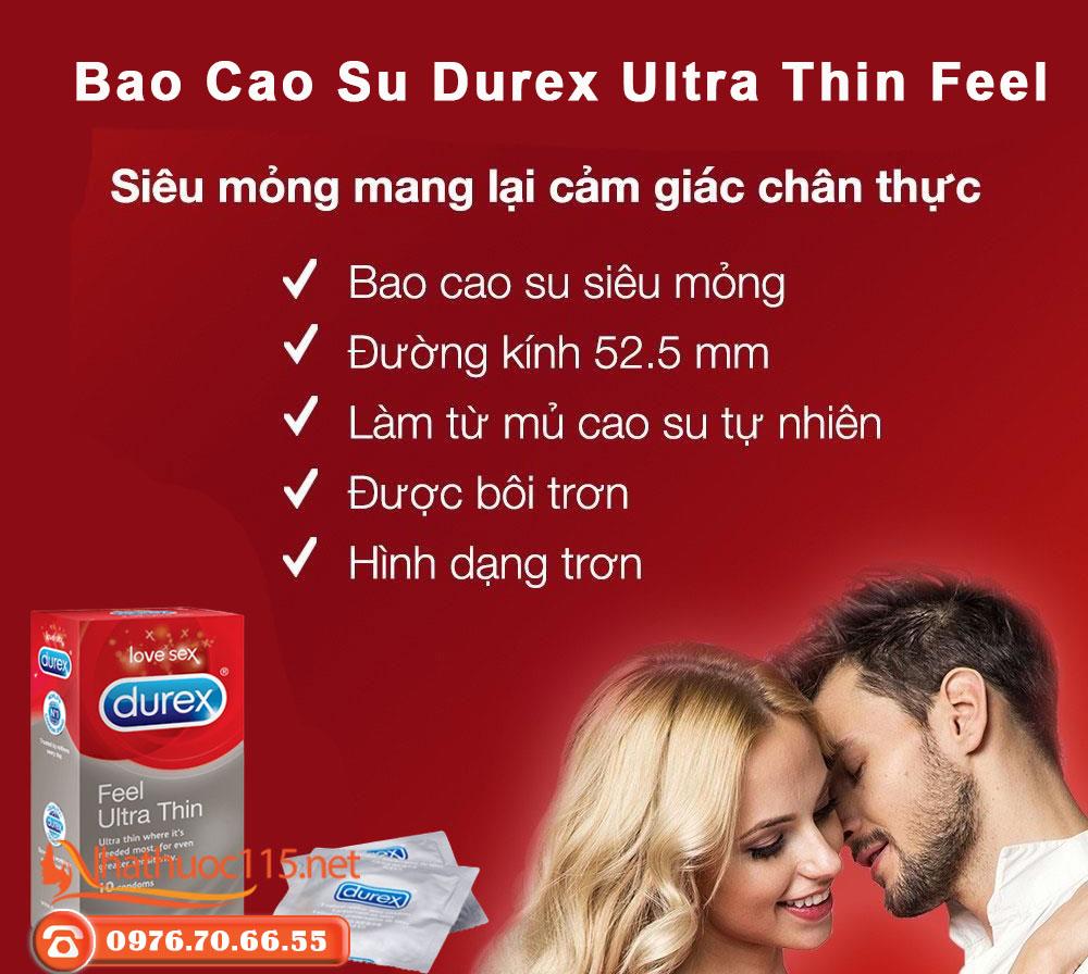 Ưu điểm Bao cao su Durex Ultra Thin Feel