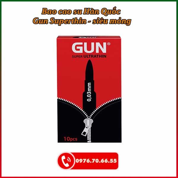 Bao cao su Hàn Quốc Gun Superthin