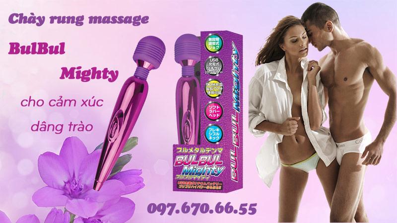 Chày rung massage Bulbul Mighty kích thích điểm G