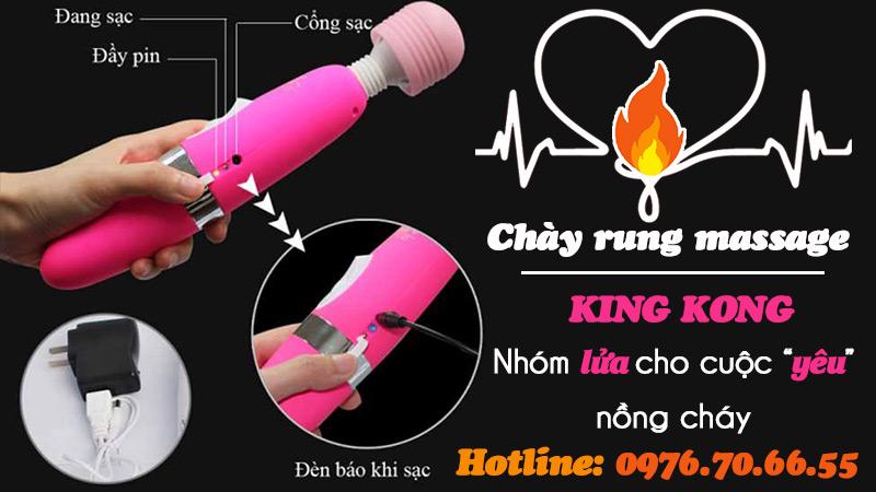 Hướng dẫn sử dụng chày rung masage king kong