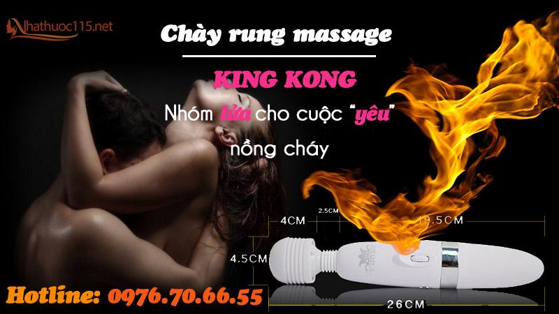 Chày rung massage kích thích điểm G - King Kong