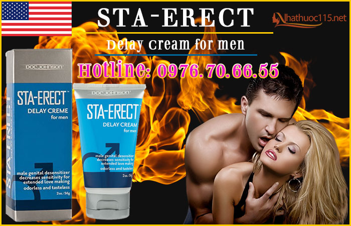 Gel chống xuất tinh sớm Sta-Erect Delay Cream