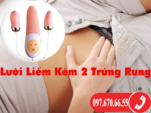 Lưỡi Liếm Kèm 2 Trứng Rung Mềm Mịn Kích Thích
