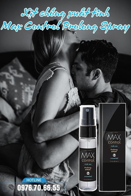 Ưu điểm Xịt chống xuất tinh Max Control Prolong Spray
