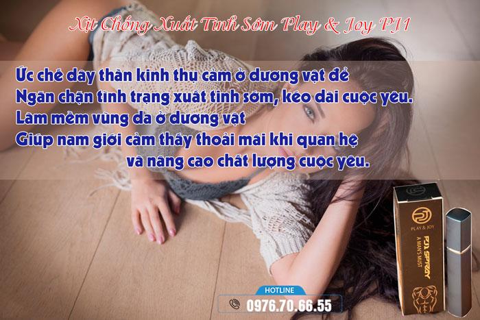 Công dụng Xịt Chống Xuất Tinh Sớm Play & Joy PJ1 Cao Cấp