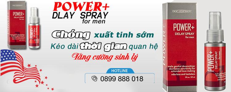 Thành phần Xịt Chống Xuất Tinh Sớm Power delay Spray for Men