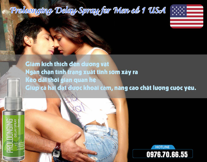 công dụng Proloonging Delay Spray for Men số 1 USA
