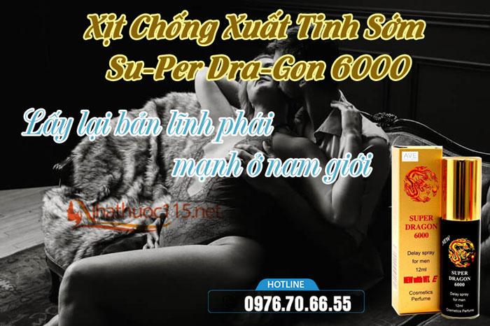 Xịt Chống Xuất Tinh Sớm Su-Per Dra-Gon 6000