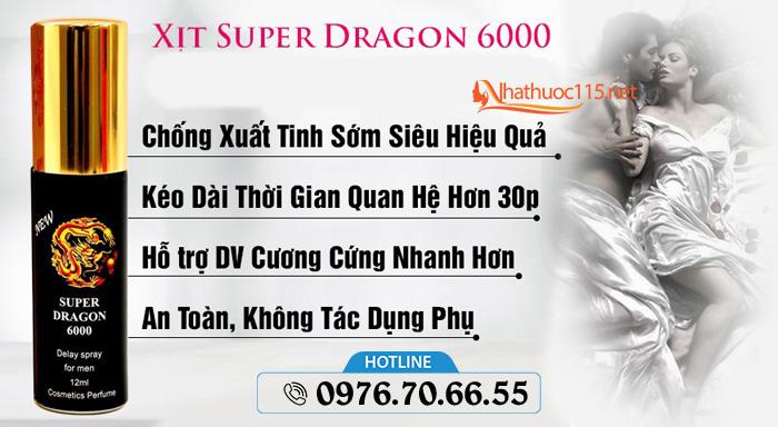 Cách sử dụng Xịt Chống Xuất Tinh Sớm Su-Per Dra-Gon 6000