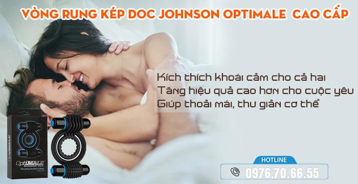 Công dụng Vòng Rung Kép Doc Johnson OptiMale