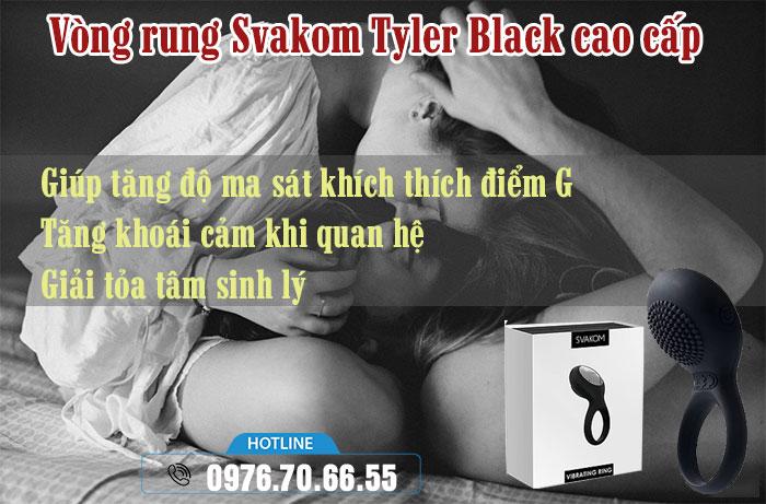 Công dụng Vòng rung Svakom Tyler Black
