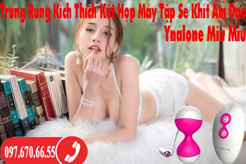 Trứng Rung Kích Thích Kết Hợp Máy Tập Se Khít Âm Đạo Ynalone Miu Miu