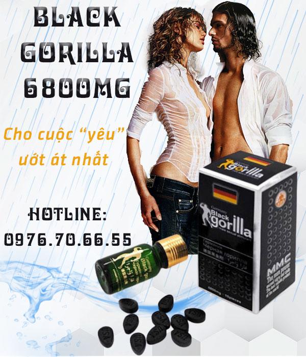 Black Gorilla 6800mg - tráng dương kiện thể