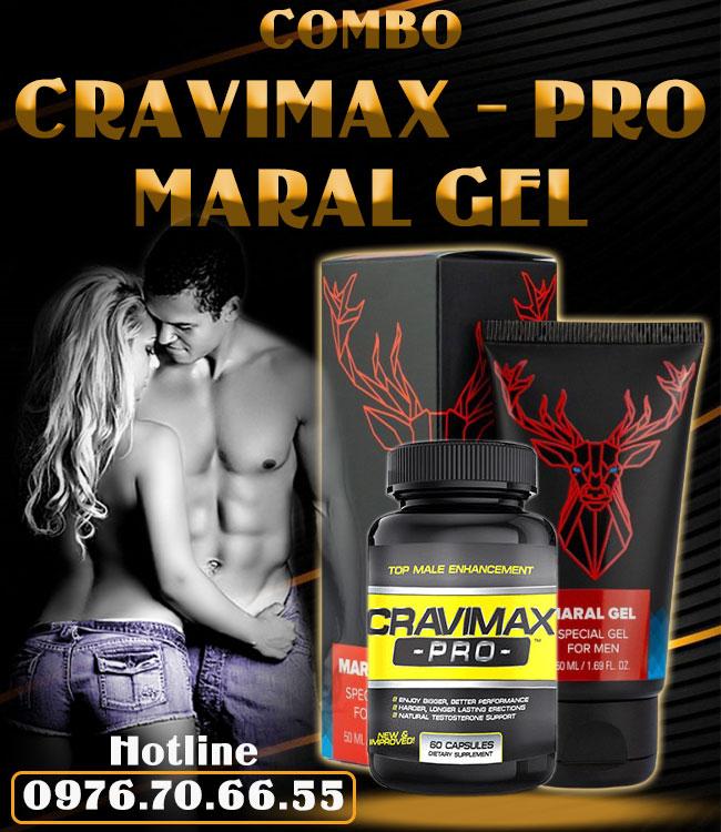 Combo Cravimax-Pro + Maral Gel cặp đôi vàng trong làng sinh lý
