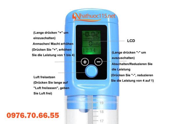 Máy tập tăng kích thước dương vật LCD V4.0