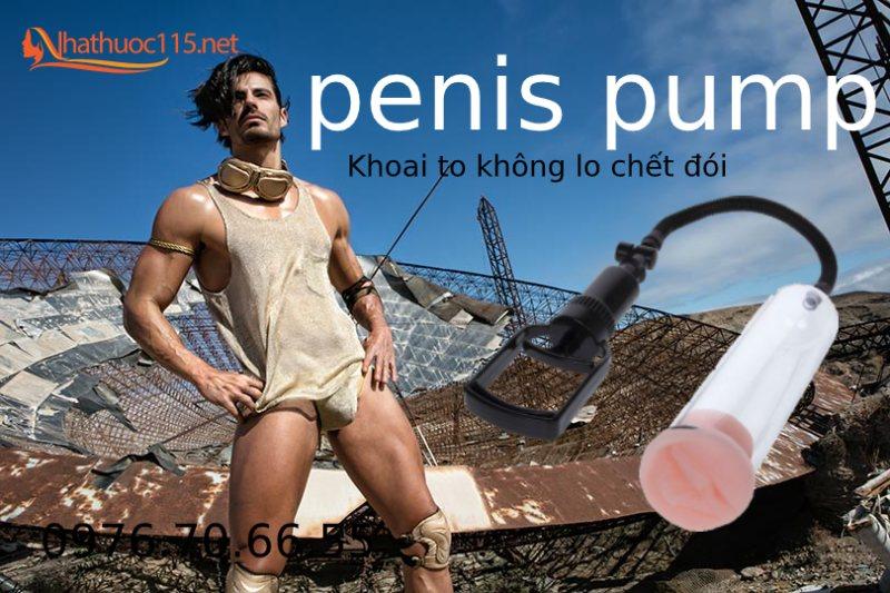 Máy tập penis pump làm to và kéo dài dương vật