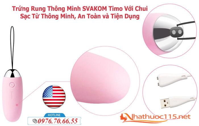 Công dụng của Trứng rung cao cấp Svakom Timo