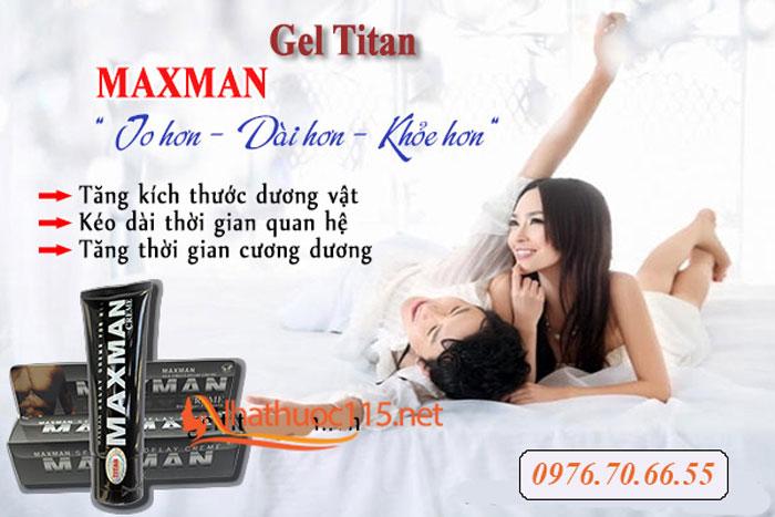 Công dụng khi sử dụng Vipmax-Rx và Gel Maxman