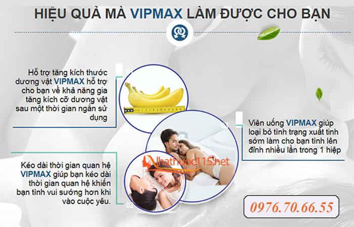 Công dụng của viên uống Vipmax USA